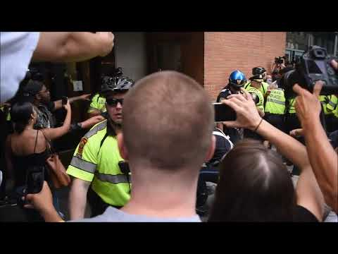 Boston Protestors Clash With Police