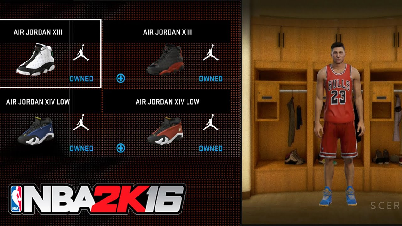 NBA 2K16 Special Edition - All Jordan Pre Order Bonus DLCs (Jordan Shoes/Jersey/T-shirts)  SHOWCASE