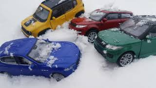 Looking for Cars under snow Toys Cars for kids