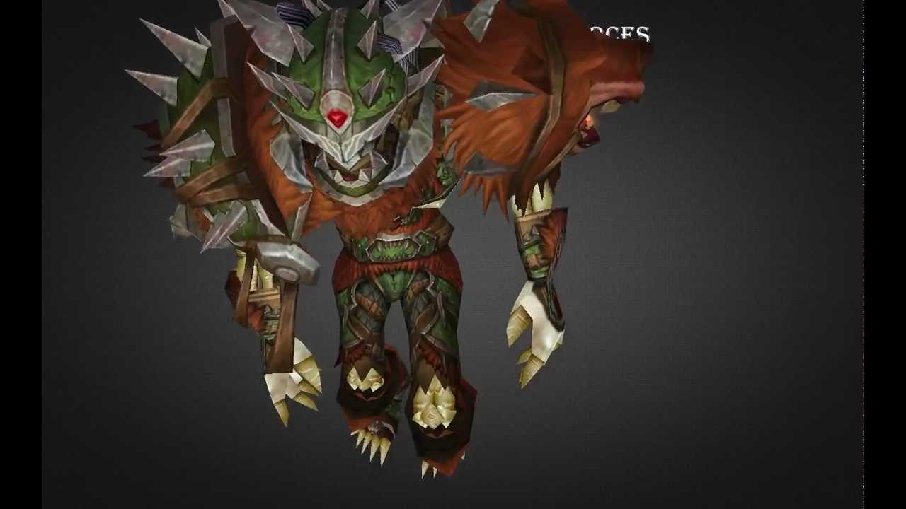 Undead Hunter Challenge Mode Set Howling Beast Armor