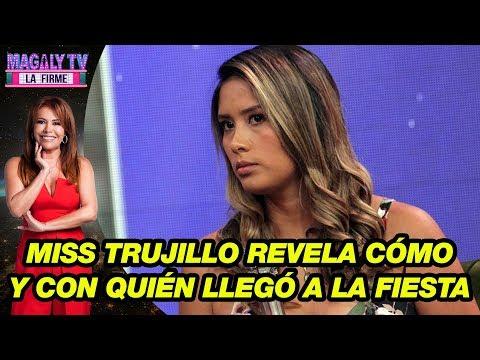 Miss Trujillo revela cómo y con quién llegó a la fiesta donde fue drogada