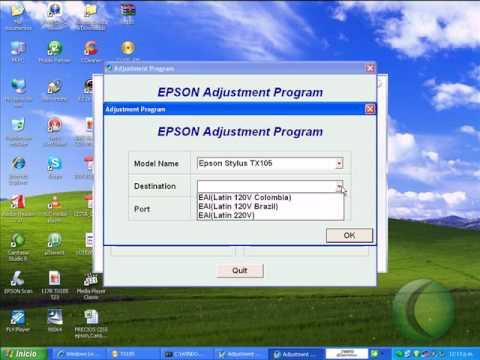 adjustment program TX115/TX410/tx100/tx105/TX200/TX300/TX400/T20/T23/T30/T33 RESET EPSON