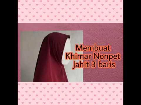 Cara Membuat Khimar Bergo Nonpet Jahit 3 Baris Di Lingkar Wajah Youtube