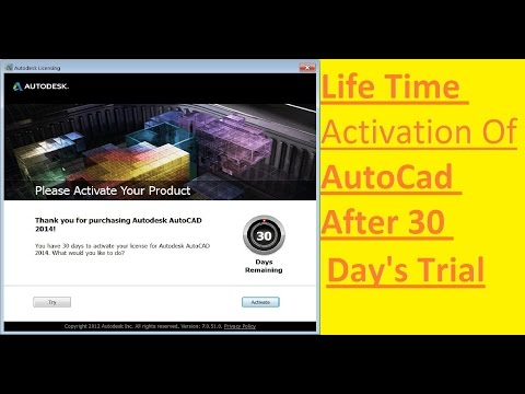 How to activate AutoCad for Life Time | AutoCad activation | Free AutoCad  videos | AutoCad classes