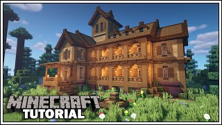 Minecraft Tutorial: How t๐ Build a Large Wooden House