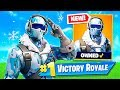 *NEW* Deep Freeze Bundle Frostbite Skin + Random Duos! (Fortnite Live Gameplay)