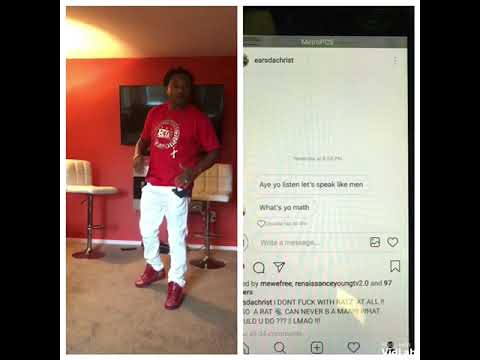 ALPO DA RAT, WHO SNITCHED ON WAYNE PERRY, TRY TO SEND EARS DA CHRIST,A MESSAGE ON IG