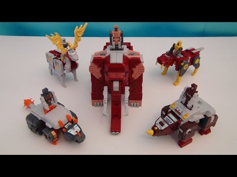 FANSPROJECT GLACIALORD TRANSFORMERS RETRO FUTURE COMBINER VIDEO TOY REVIEW
