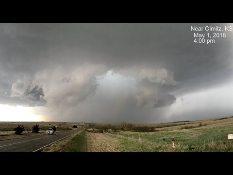 RIDICULOUS supercell structure leading up to Tescott, KS EF3 tornado; May 1, 2018