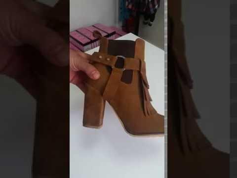 Almina Shoes Yeni Sezon Topuklu Bot Modeli İster Püsküllü, İster Püskülsüz Kullan