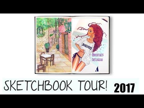 ♡ SKETCHBOOK TOUR #1 ||  2017 ♡ 🍁#FALLSERIES☕️