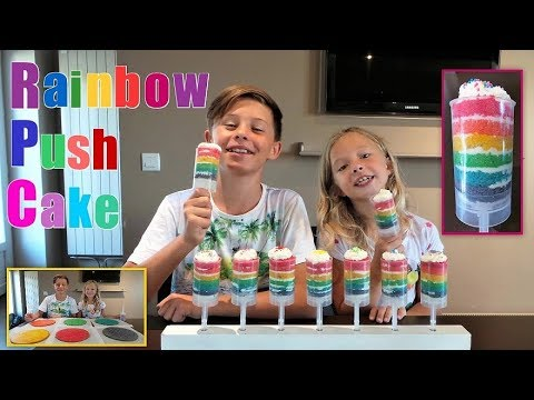 RAINBOW PUSH CAKE
