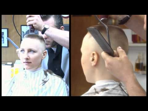 preview clip of Calley's Barbershop Flat Top and Head Shave - YouTube
