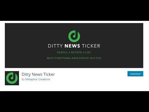 Ditty news ticker wordpress