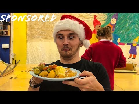 I went into a School to try a KIDS CHRISTMAS DINNER!