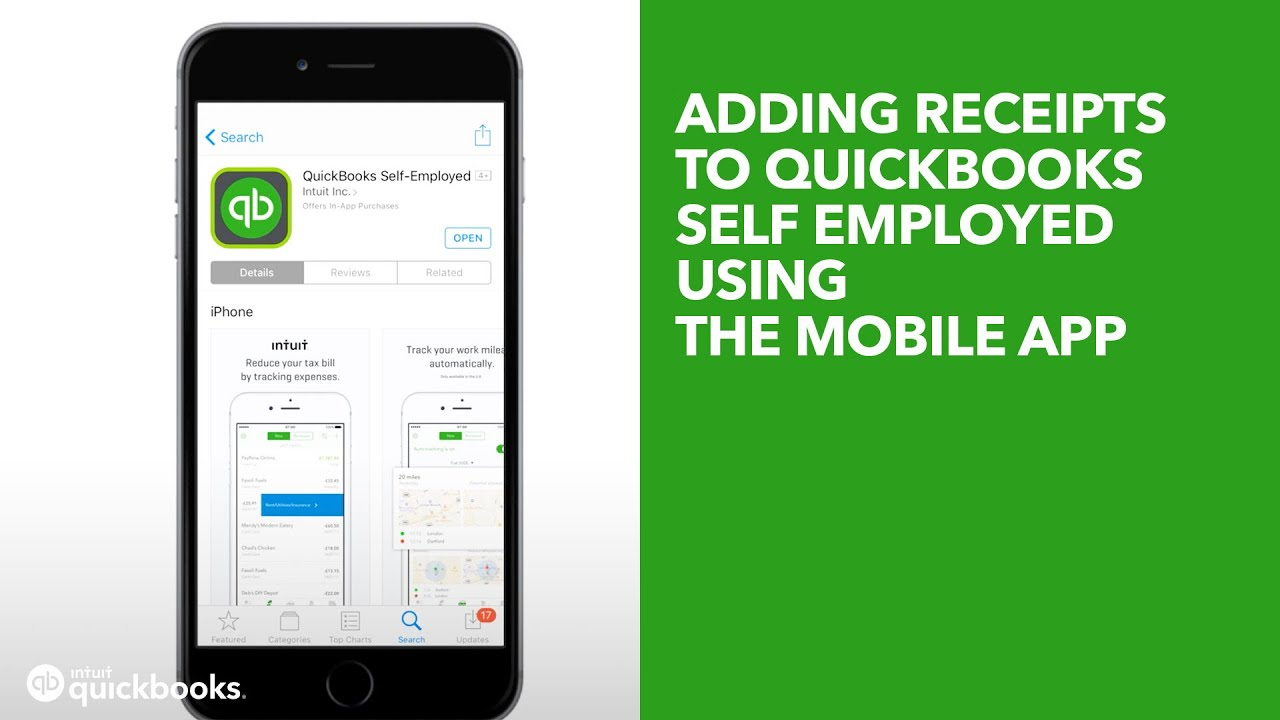 Adding receipts to QuickBooks Self Employed using the mobile app (UK  Edition)