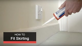 How to fit skirting with Wickes