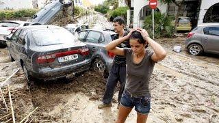 Recopilación Violentas Inundaciones arrasan en Almería España | 07 Sept. 2015