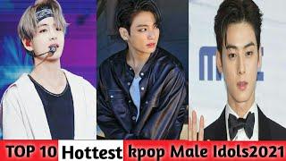 Top 10 Hottest male kpop Idols in the world||2021|Jungkook|Eunwoo|Kim Taeyung|Updated