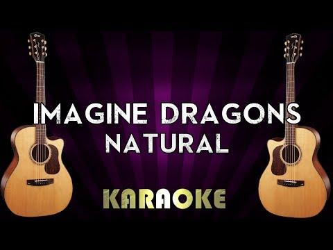 Natural - Imagine Dragons | HIGHER Key Acoustic Guitar Karaoke Instrumental Lyrics Cover