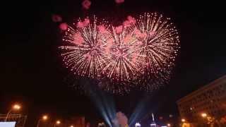 Салют на площади Свободы! На день города Харьков 23.08.2013