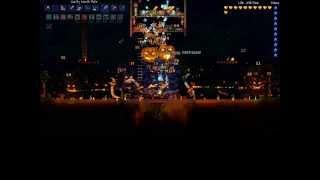 Terraria - Pumpkin Moon with North Pole ( OP, gamebreaker)