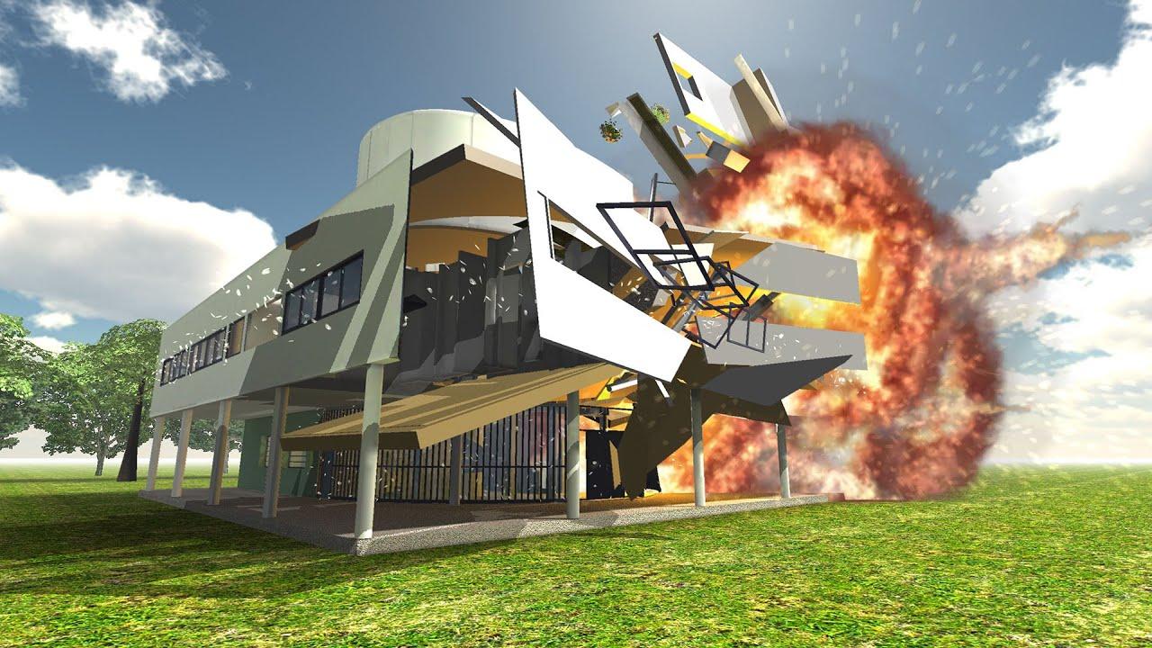 Arsenal Wallpaper 3d Disassembly 3d Ultimate Demolition Villa Savoye Youtube