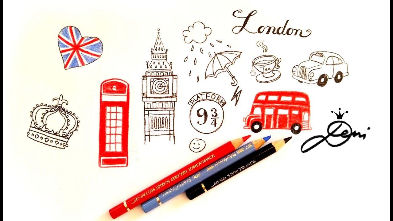 London Doodles How To Draw British Wie Zeichnet Man