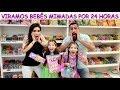 VIRAMOS BEBÊS MIMADAS POR 1 DIA - YouTube