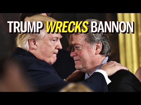 """Trump Wrecks Steve Bannon After """"Treason"""" Comments Leak From Bannon's New Book (REACTION)"""