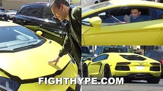 """MEXICAN!"" JULIO CESAR CHAVEZ JR. STUNTS IN SICK LAMBORGHINI; ROLLS OUT LIKE A BOSS"
