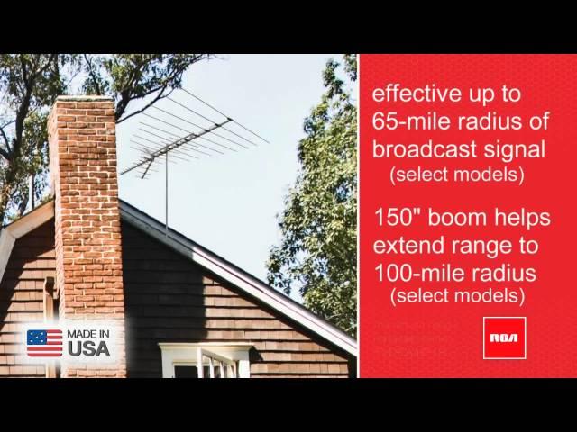 RCA Antennas - RCA Outdoor HDTV Antenna ANT3036, ANT3037, ANT3038, ANT751, ANT702