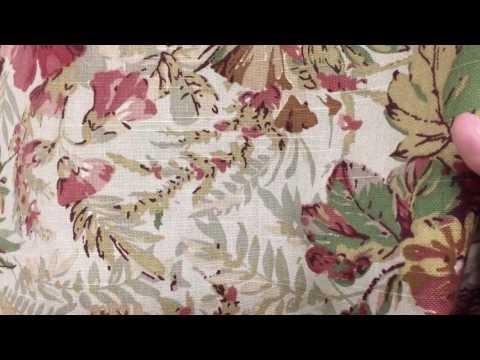 Coasta Garden Floral Tea 54 Wide Drapery Fabric