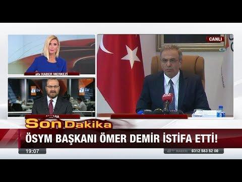 Son Dakika! ÖSYM başkanı Ömer Demir istifa etti! - 21 Ağustos 2017