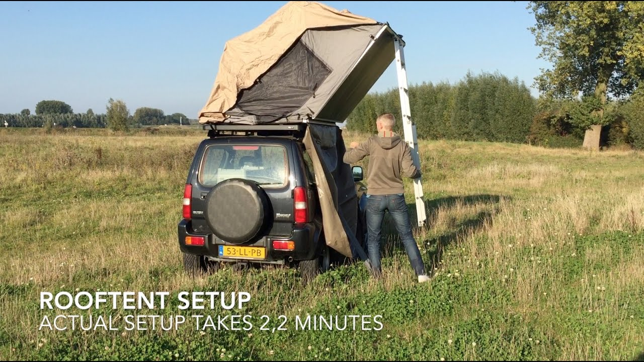 Roof Top Tent Setup Suzuki Jimny Youtube