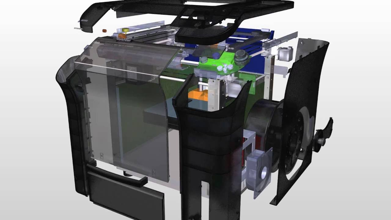 interior of cubicon single 3d printer youtube. Black Bedroom Furniture Sets. Home Design Ideas