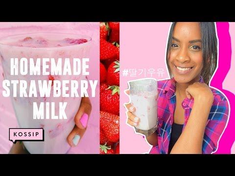 How to Make Homemade Strawberry Milk! (딸기 우유) | Trending in Korea