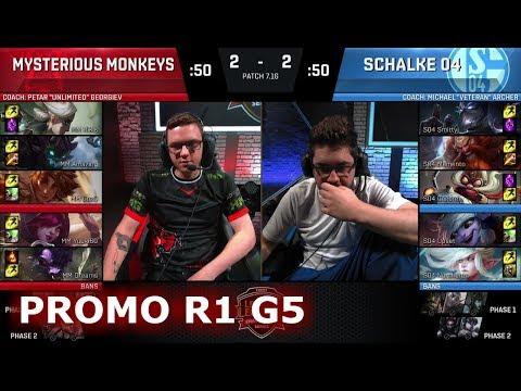 Mysterious Monkeys vs FC Schalke 04 | Game 5 Promotion/Relegation S8 EU LCS Spring 2017 | MM vs S04