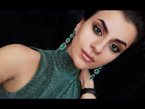 Жидкие тени. Вечерний макияж. Макияж для зеленых глаз