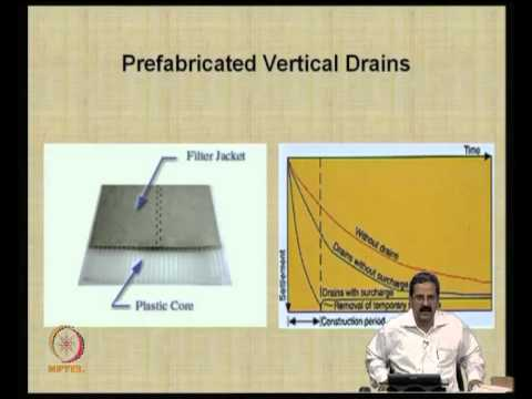 Mod-04 Lec-10 Prefabricated Vertical Drains (PVDS) -- I