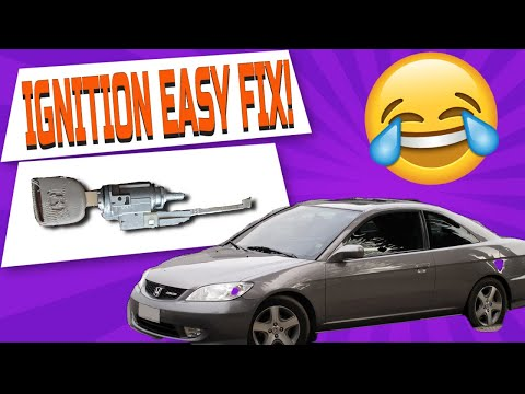 HOW TO FIX IGNITION CYLINDER ON HONDA WITHOUT REMOVING THE HOUSING AND WITHOUT PROGRAMMING!!