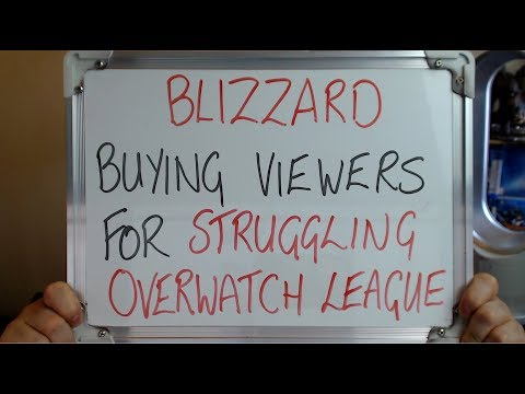 BLIZZARD Buying VIEWERS For Struggling OVERWATCH LEAGUE!!