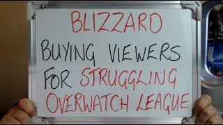 Blizzard Buying Viewers For Struggling Overwatch League