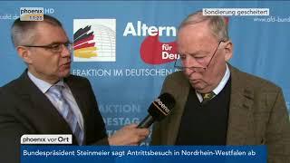 Alexander Gauland zum Scheitern der Sondierungsgespräche am 20.11.17