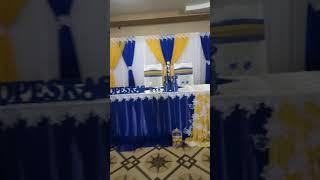 Свадьба в синем цвете с желтым