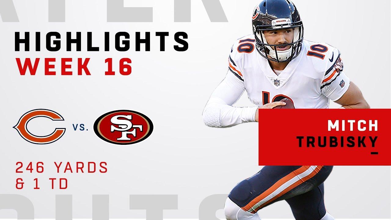 Mitch Trubisky Highlights vs. 49ers ...