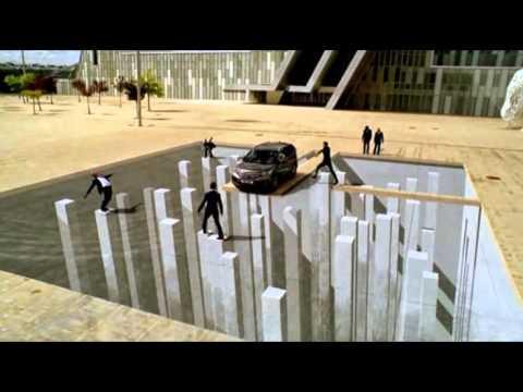 Peintures de rue en 3d youtube - Peinture effet profondeur ...