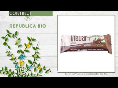 Baton cu Proteine si Ciocolata Raw Bio 47g