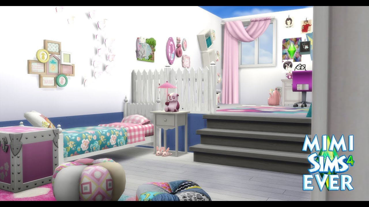 cr ation chambre fille sims 4 youtube. Black Bedroom Furniture Sets. Home Design Ideas