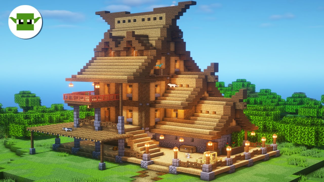 Minecraft Rustic House with Shop  Minecraft Building Tutorial in the 11x11  Town